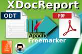 ODT to PDF using XDocReport and Apache Freemarker